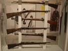 Pušky četnictva z konce 19. století, které jsou součástí nové expozice
