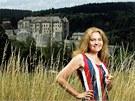 Lucie Seifertov� - 2006: U hradu �esk� �ternberk, v jeho� bl�zkosti s man�elem