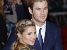Chris Hemsworth a jeho těhotná manželka Elsa Pataky na evropské premiéře filmu