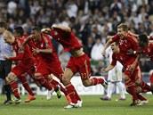 MY TO DOKÁZALI. Fotbalisté Bayernu právě vyhráli penaltový rozstřel a...