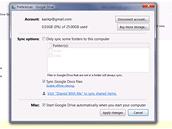 Google Drive - nastavení synchronizace