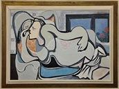 Obraz Emila Filly Ležící žena