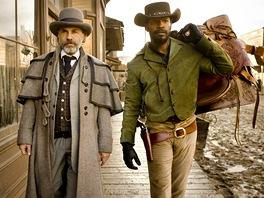 Christoph Waltz a Jamie Foxx ve filmu Nespoutan� Django