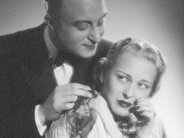 Velké filmové hvězdy 30. a 40. let: Zita Kabátová a Oldřich Nový.
