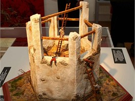 Model šibenice, která stála na olomouckém Šibeničním vrchu, je jedním z