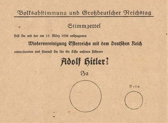 """""""Souhlasíte se znovuspojením Rakouska a Německé říše, ke kterému došlo 13."""