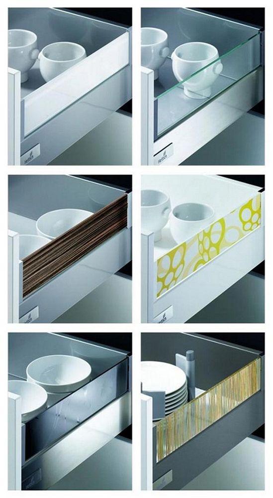 Nástavce DesignSide umožňují ladit provedení boků zásuvky podle vzhledu korpusu