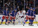 G�L NEW YORKU. Chris Kreider (20), Brad Richards (19) a Marian Gaborik (10) se