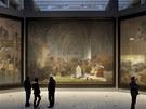 Slovanská epopej je vystavená v Národní galerii v pražském Veletržním paláci....
