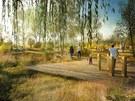 Vítězný návrh podoby Parku Čtyři Dvory. Z hodnotícího zasedání soutěžní poroty,...