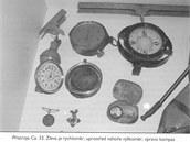 Přístrojové vybavení letounu Ca.33, v němž zahynul M. R. Štefánik