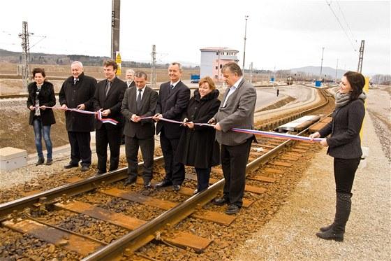 Slavnostnímu zahájení provozu seřaďovací stanice Žilina-Teplička byli přítomni