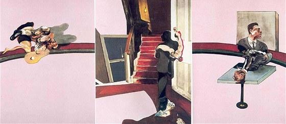 Francis Bacon - triptych Vzpomínka na George Dyera