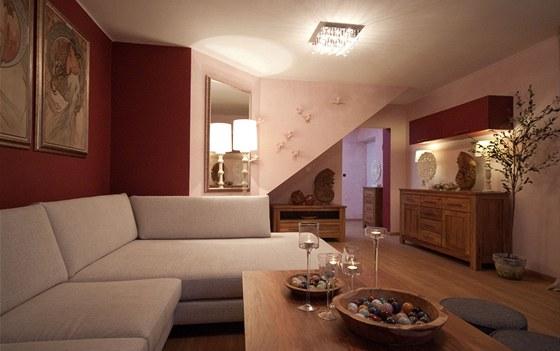 Osvětlení nabízí i romantickou atmosféru.