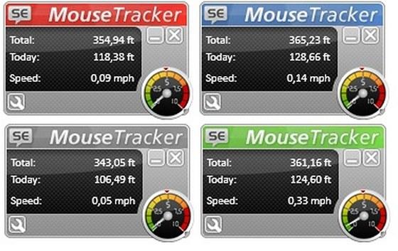 K dispozici jsou čtyři barevné varianty aplikace SuperEasy Mouse Tracker