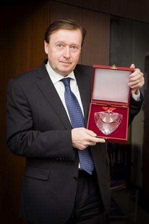 Generální ředitel AŽD Praha získal ocenění Řádu Zlatého Vavřínu