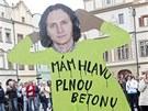 Demonstrace proti kácení v Tyršových sadech. (15.5.2012)