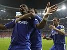 Didier Drogba z Chelsea vstřelil ve finále fotbalové Ligy mistrů vyrovnávací