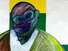 Francis Bacon - Portrét (1980 – 1992, barevná koláž na papíře, soukromá sbírka,