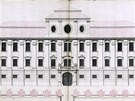 Plán fasády zámku v Jaroměřicích nad Rokytnou připravený architektem Jakubem