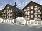 Vizualizace budoucí podoby apartmánového domu Hubertus v Karlově Studánce. (14.