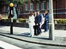 Beatles před přechodem Abbey Road