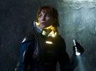 Z filmu Prometheus, Noomi Rapace jako vědkyně Elisabeth Shawová