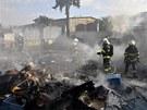 Velký požár v Olomouci způsobil škodu na více než jeden milion korun. Žár od