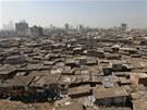 Chudinská čtvrť Dharavi na předměstí Bombaje.