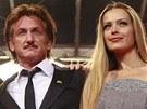 Sean Penn a Petra Němcová v Cannes (2012)