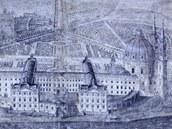 Prospekt, na nějž v roce 1700 malíř Nicolas Milich nakreslil představu pána