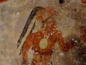 """Velké nástěnné malby v domě """"xultúnského písaře"""""""