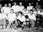 Snímek prostějovských hokejistů ze 60. let.