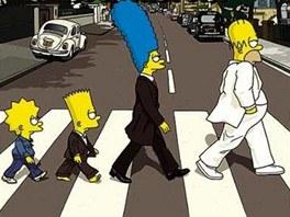 Simpsonovi přecházejí Abbey Road