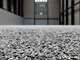 Aj Wej-wej vystavil v londýnské Tate Modern slunečnicová semínka z porcelánu