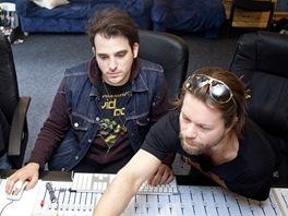 Richard Kraj�o z kapely Kry�tof s americk�mi producenty Yaronem Fuchsem a Idem