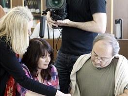 Herec Viktor Preiss natáčel se štábem České televize pod vedením Olgy Sommerové