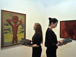 V Praze je poprvé vystaven cyklus 14 monumentálních obrazů Mikuláše Medka.