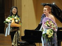 Magdalena Kožená a Mitsuko Uchida při recitálu na Pražském jaru 2012
