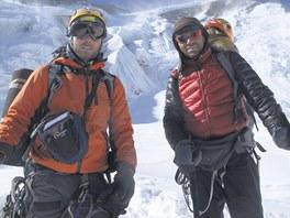 Jan Tr�vn��ek a Radek Jaro� pod vrcholem Annapurny.