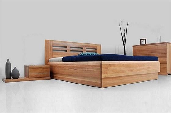 CORA – praktické dvoulůžko vyrobeno z masivu, úložný prostor, cena postele pro