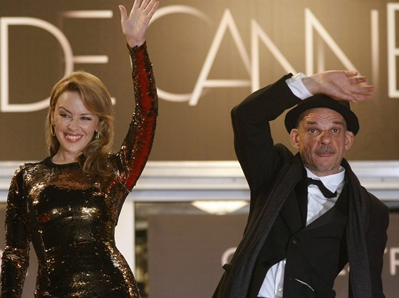 Kylie Minogue a Denis Lavant představili v Cannes film Holy Motors.