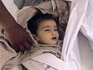 Syrské dítě, která zahynulo během masakru v Húlá (27. května 2012)