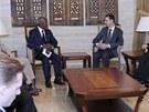 Zmocn�nec OSN a Ligy arabsk�ch st�t� pro S�rii Kofi Annan p�i �tern�ch
