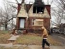 Opuštěné domy v Detroitu. Někdejší mekka automobilového průmyslu upadá už