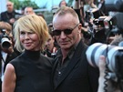 Sting s manželkou Trudie Stylerovou na filmovém festivalu v Cannes 2012