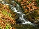 V Lovětínské rokli najdeme i malý vodopád.