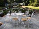 Zahrada vily Čerych v roce při natáčení Odcházení v roce 2010.