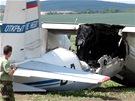 Na letišti u Čáslavi havaroval při přistání ruský vojenský letoun a začal