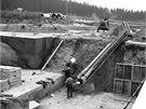 Stavba Úpravny vody Želivka